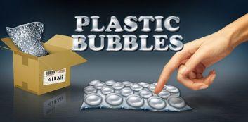 Bolhas de plástico