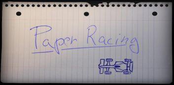 Corrida de F1 de papel