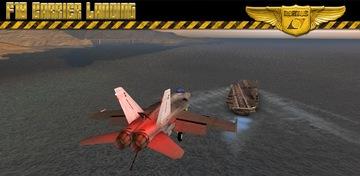 F18 prijevoznik Slijetanje