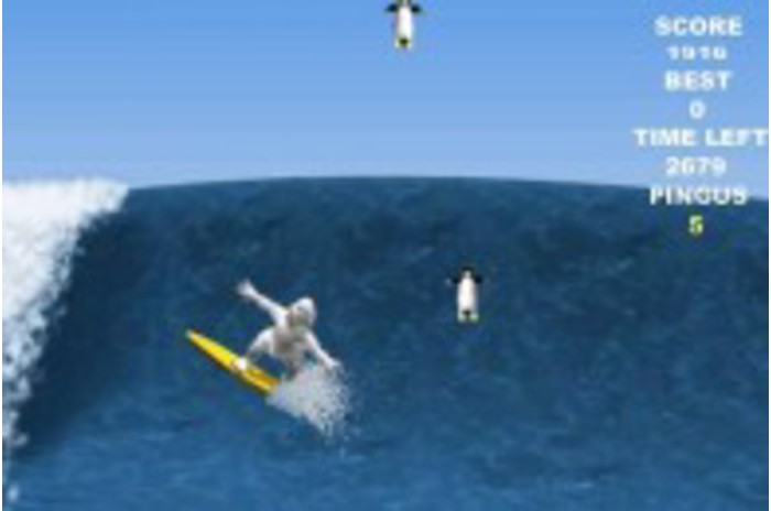 Penguin Surfing