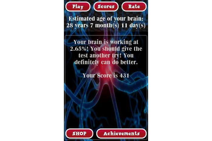 Brain Age Test Analyzer