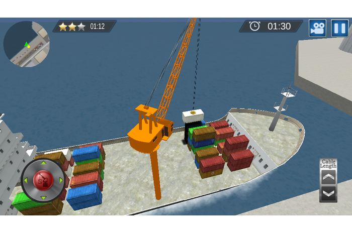 Cargo Ship Construction Crane